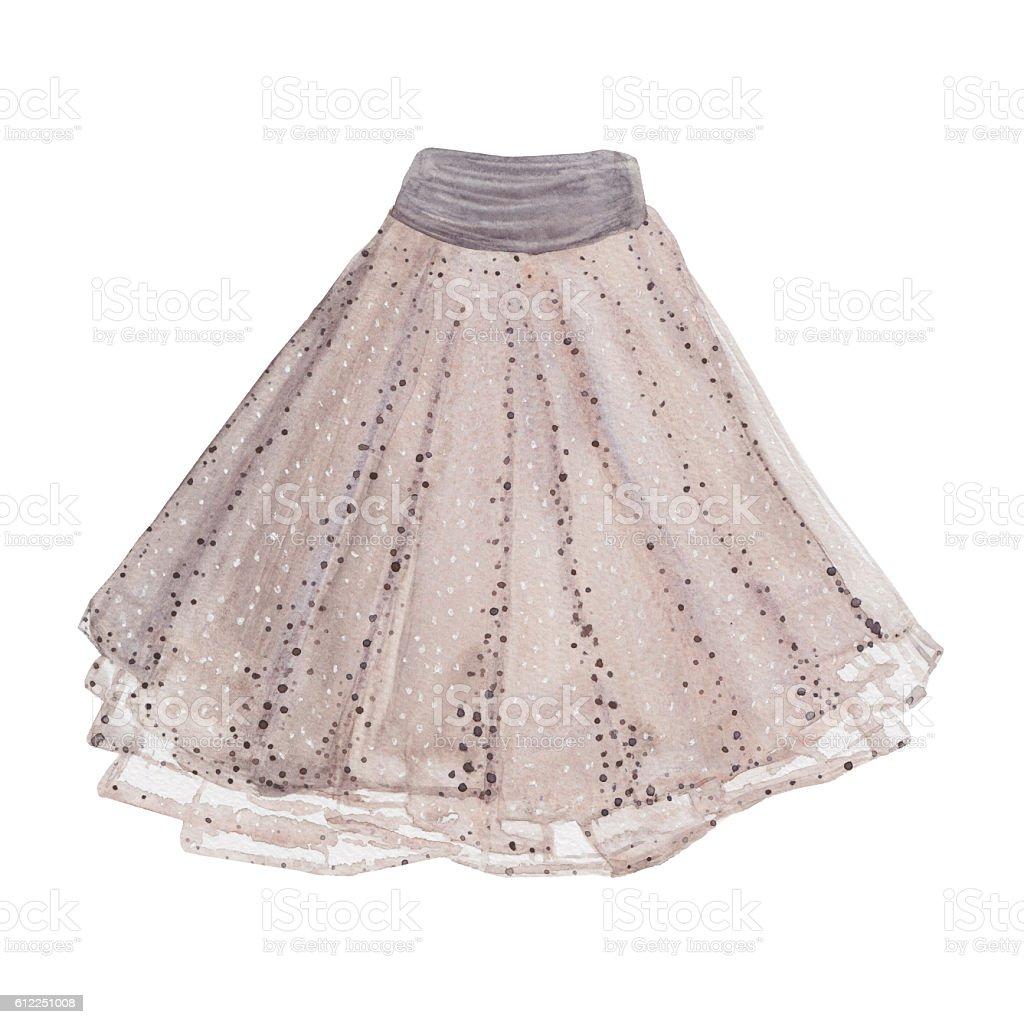 Pleated skirt. vector art illustration