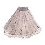 Pleated skirt.
