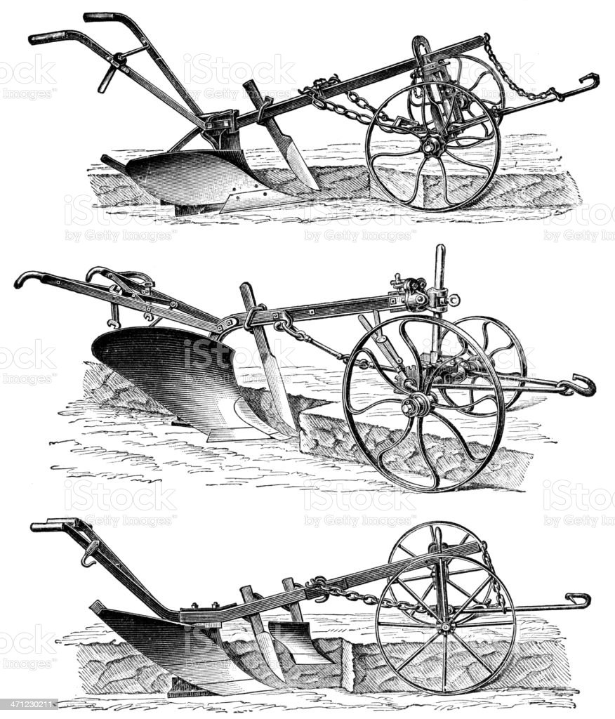 plough vector art illustration