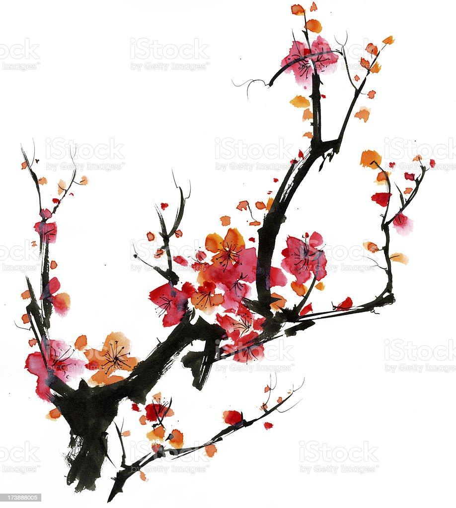 Plum Blossom royalty-free stock vector art
