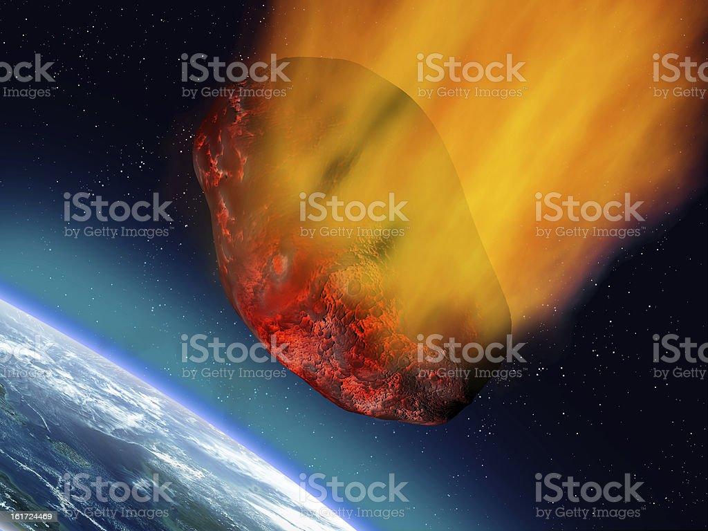 Plummeting asteroid royalty-free stock vector art