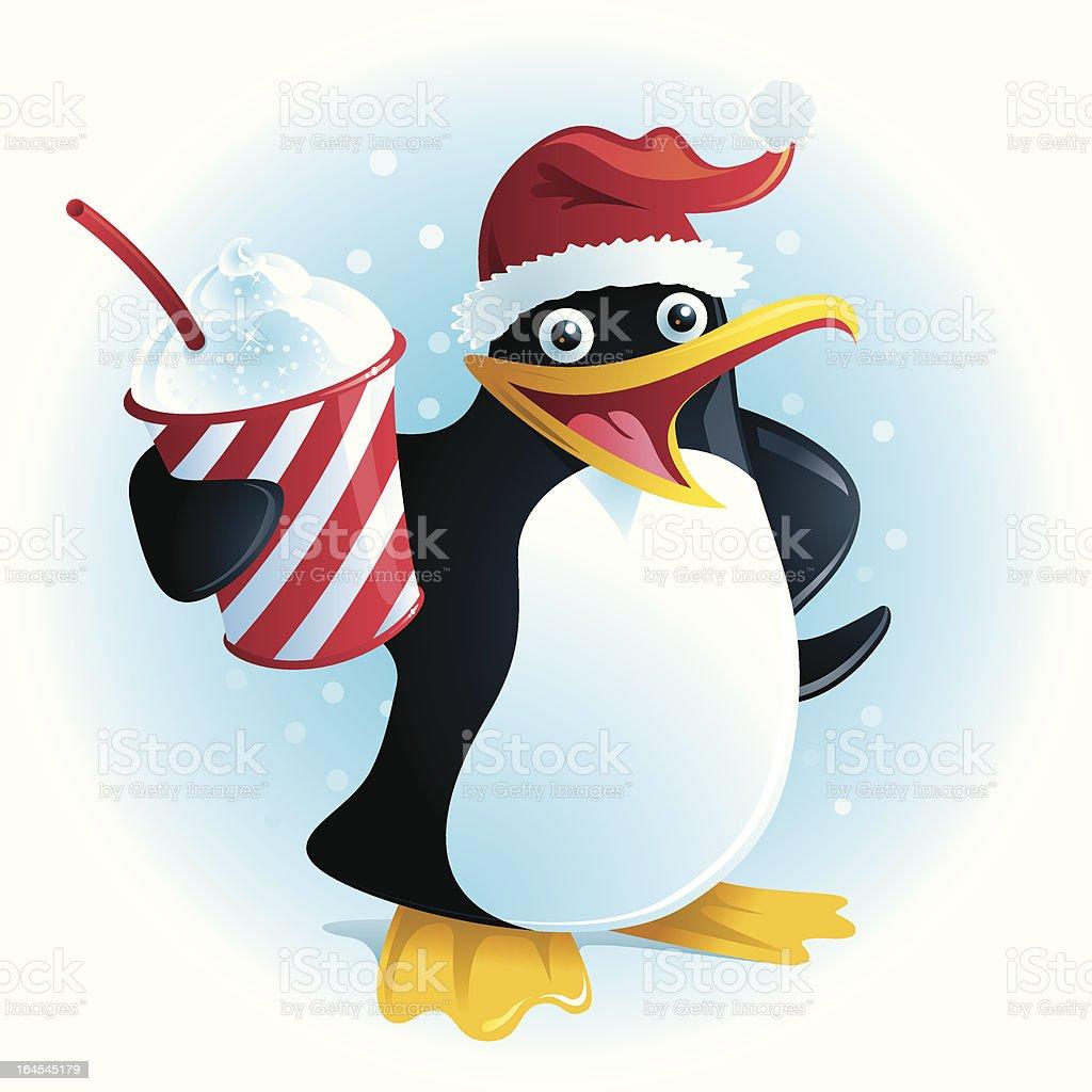 Plushee the Christmas Slush Penguin royalty-free stock vector art