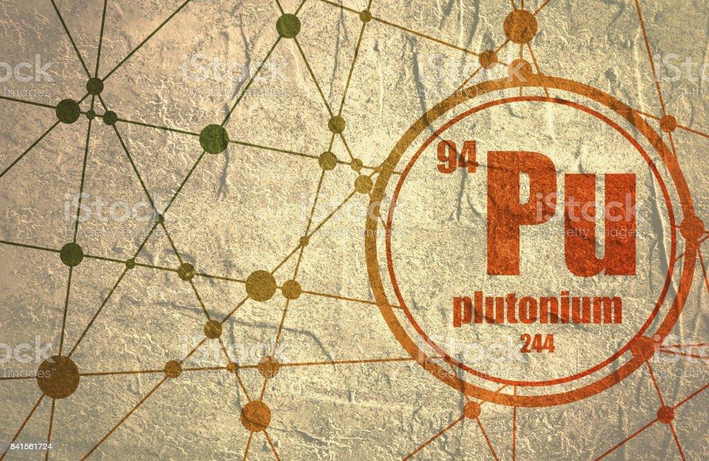 Plutonium chemical element. vector art illustration