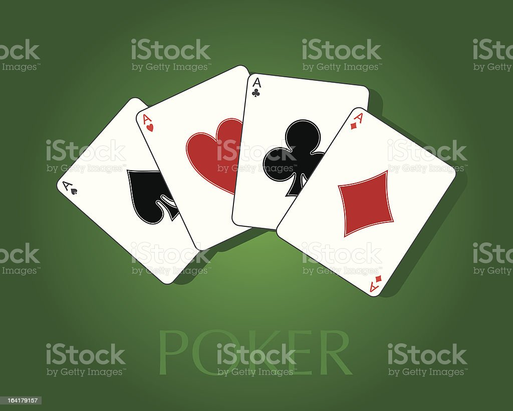 Pocker Cards Fan vector art illustration
