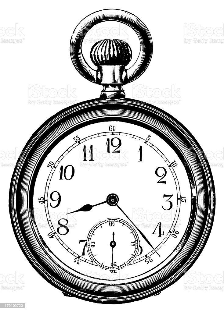 Pocket watch | Antique Design Illustrations royalty-free stock vector art