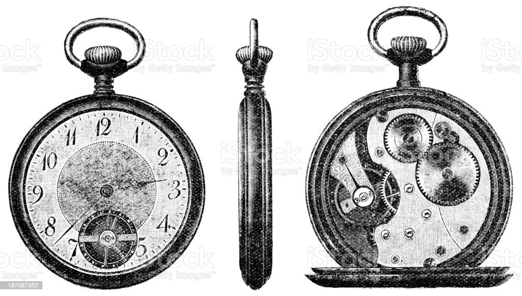 pocket watch royalty-free stock vector art