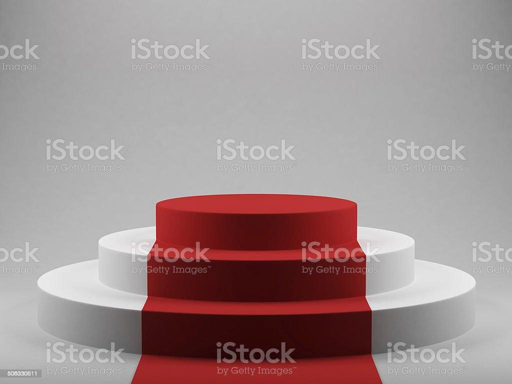 Podium avec tapis rouge stock vecteur libres de droits 506330511 ...