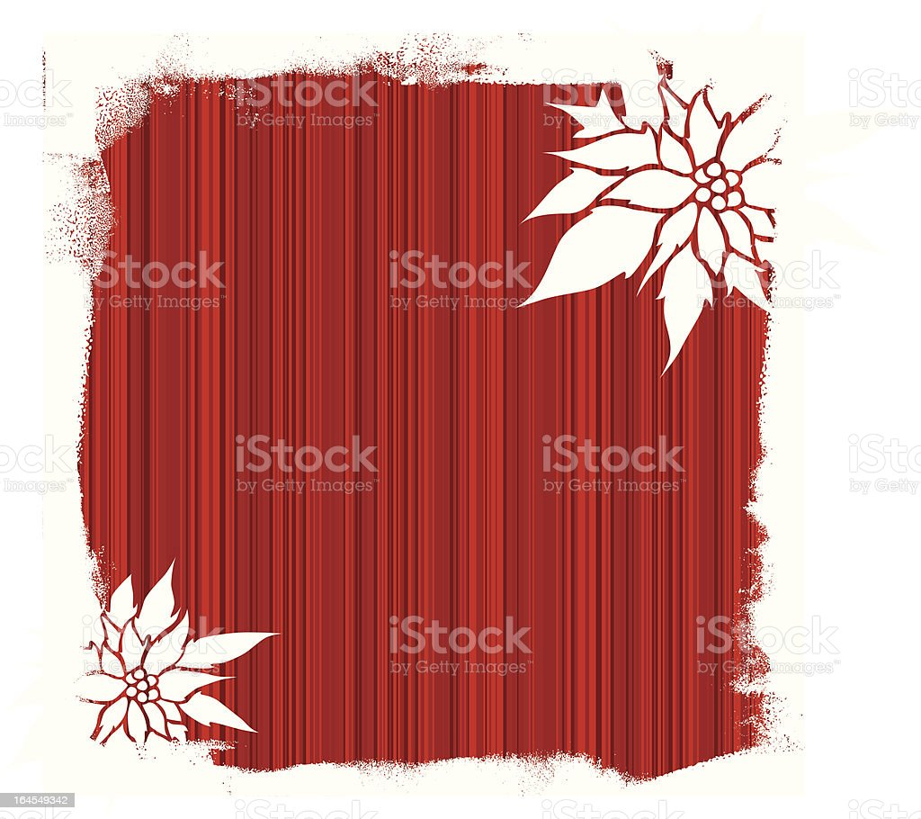 Poinsettia Background royalty-free stock vector art