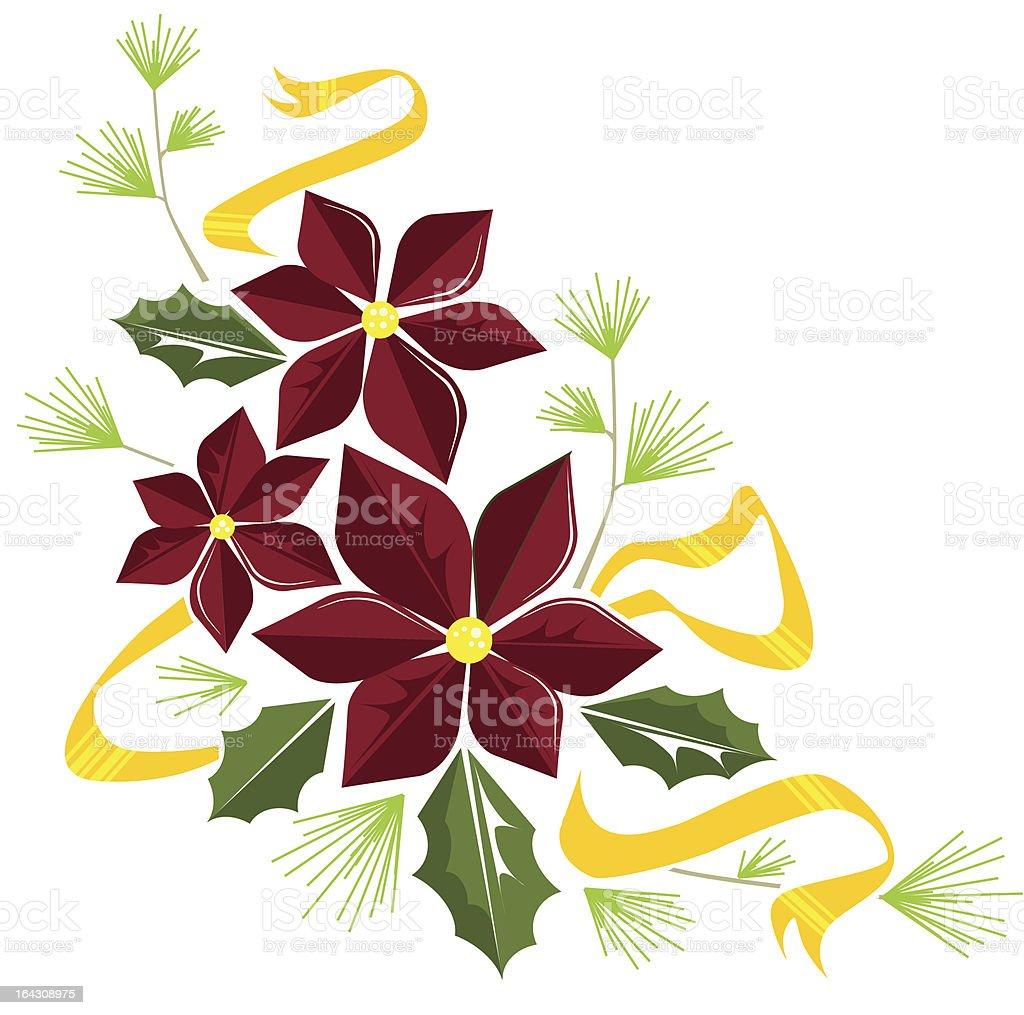 poinsettia embellishment royalty-free stock vector art