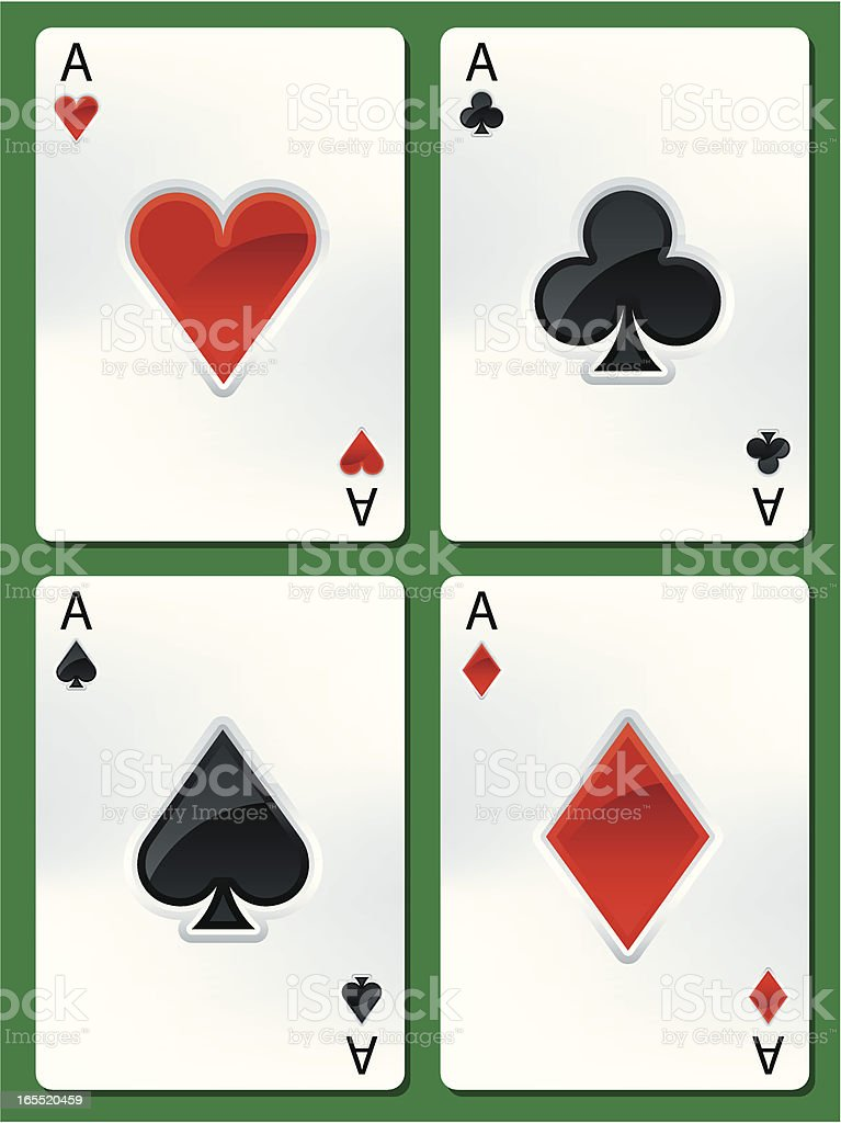 poker ases royalty-free stock vector art