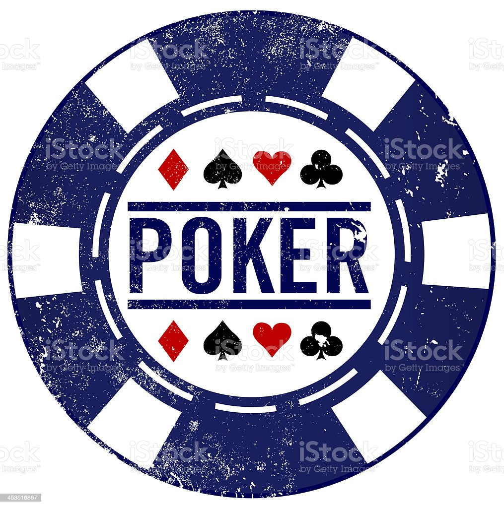poker chip stamp royalty-free stock vector art
