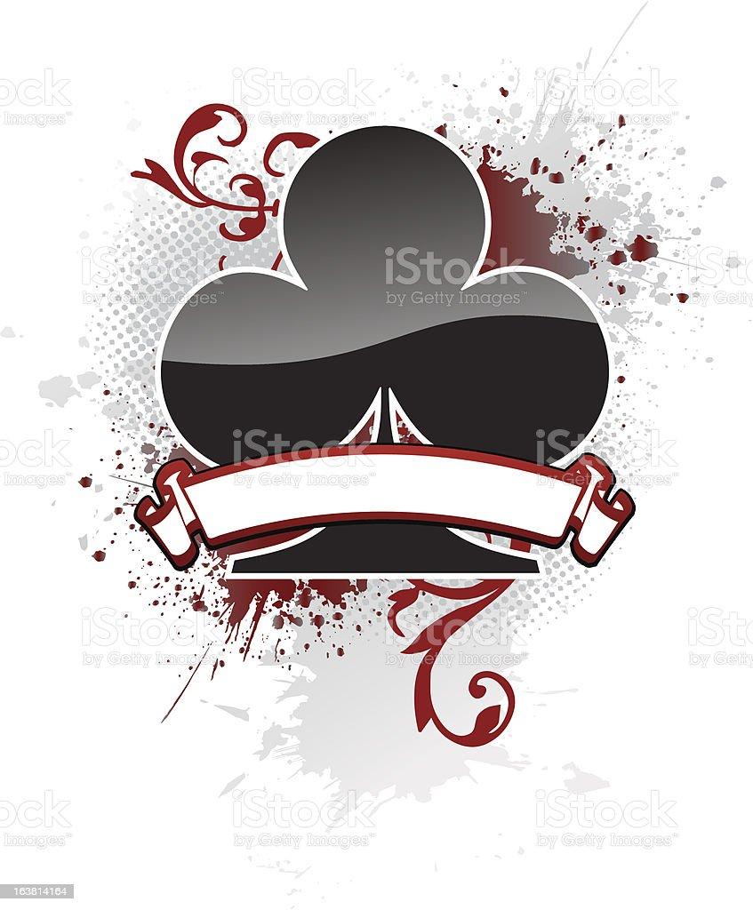 Poker Club royalty-free stock vector art
