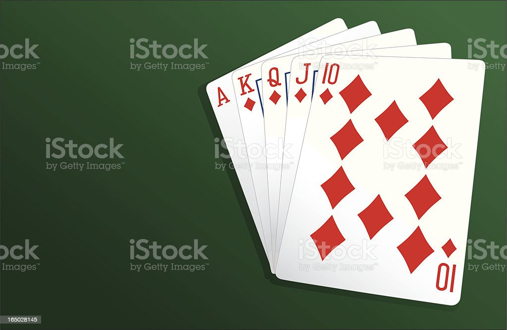 Poker Royal Flush - Vector royalty-free stock vector art