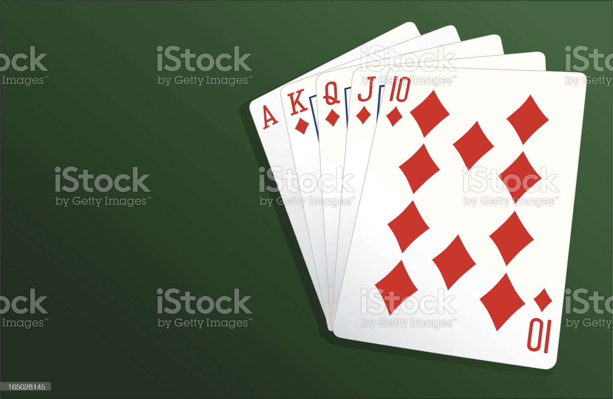 Poker Royal Flush - Vector royalty-free stock vector art