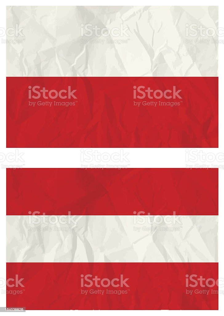 Poland and Austria flags royalty-free stock vector art