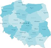 Poland Vector Map Regions Isolated