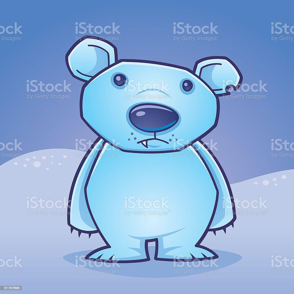 Polar Bear Cub vector art illustration