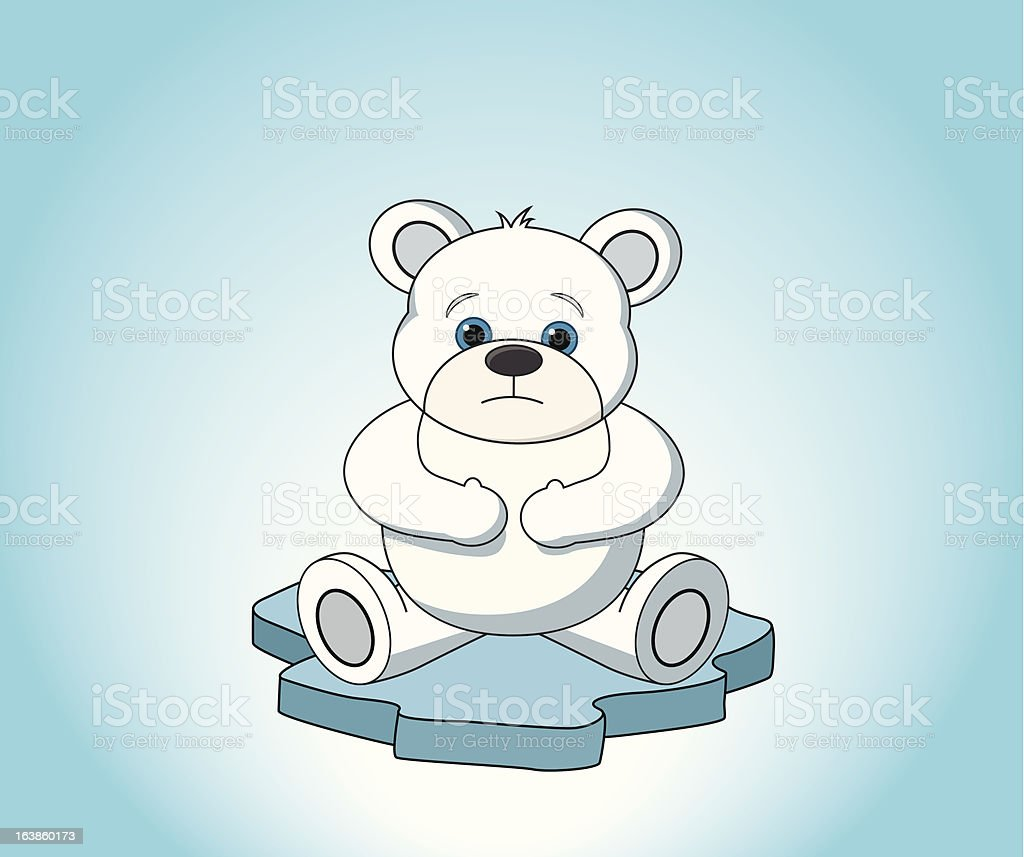 Polar Bear on Melting Ice royalty-free stock vector art