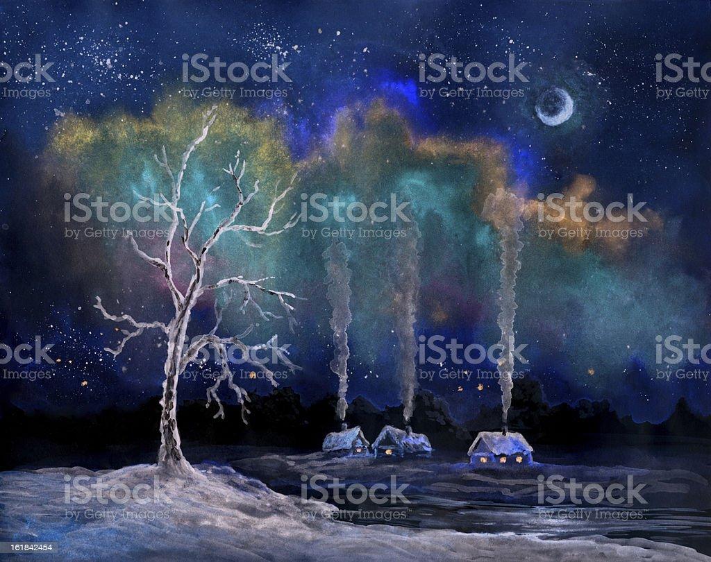 polar lights royalty-free stock vector art