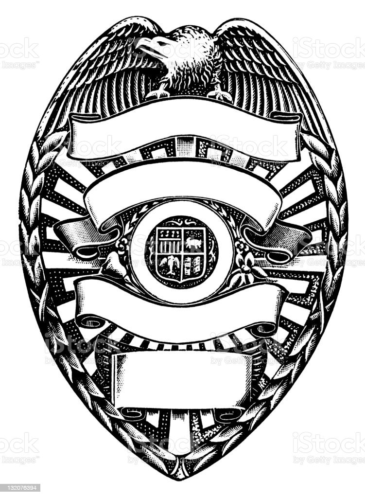 Police badge royalty-free stock vector art