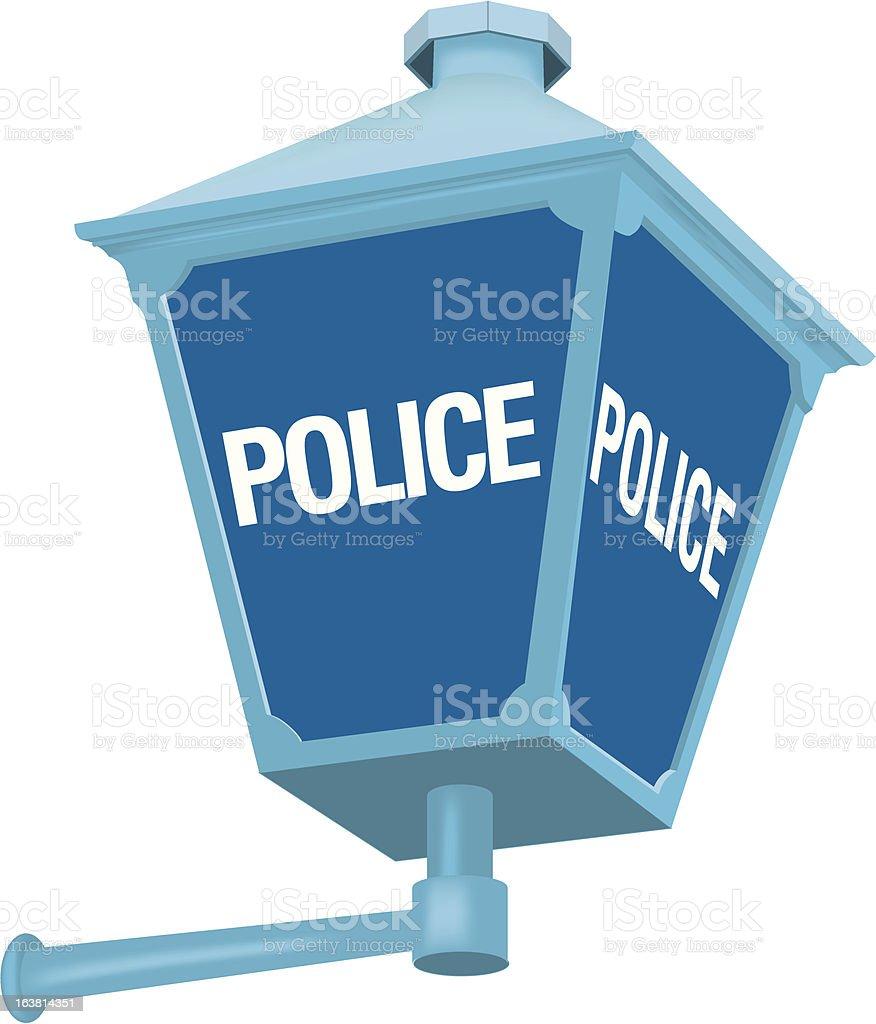 Police lamp vector art illustration