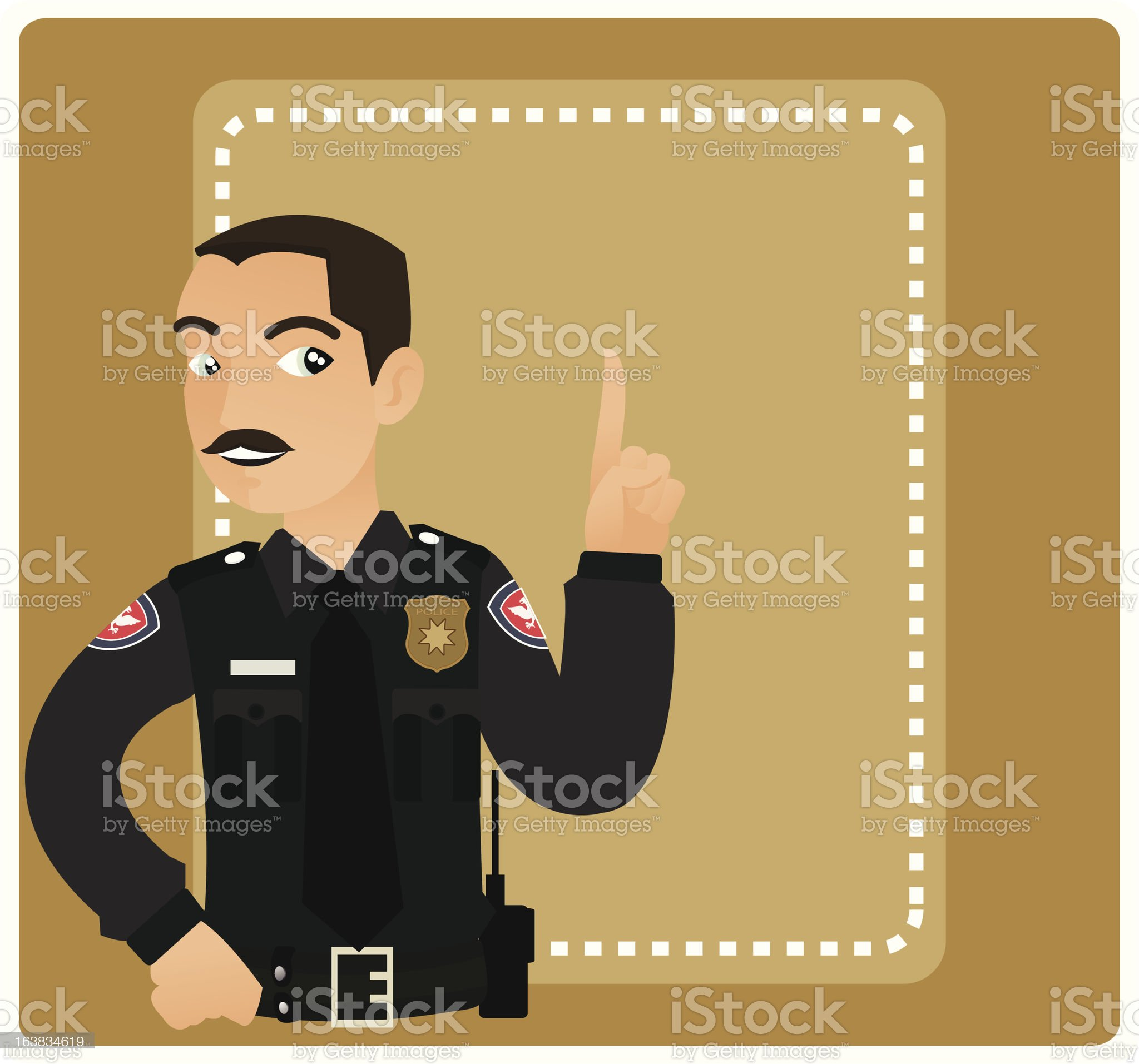 Police Officer Says royalty-free stock vector art