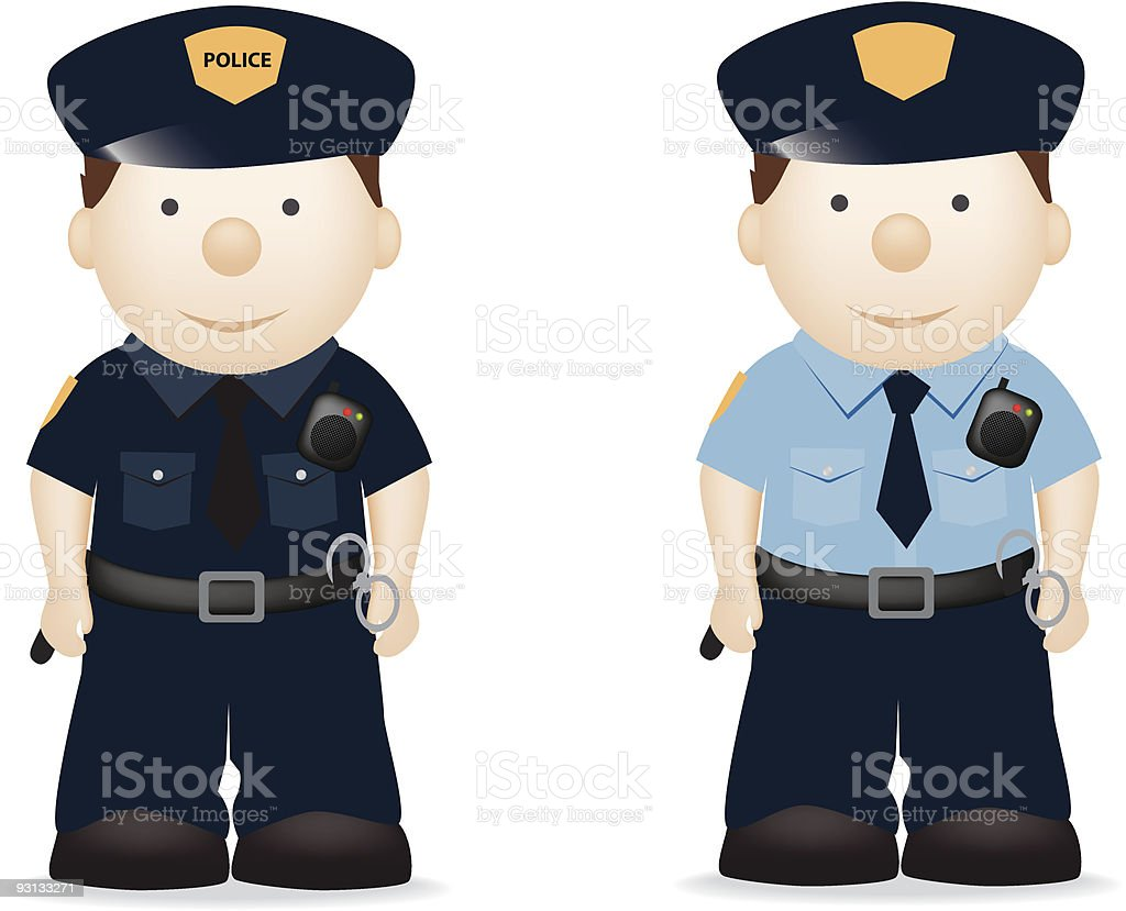 police officers royalty-free stock vector art