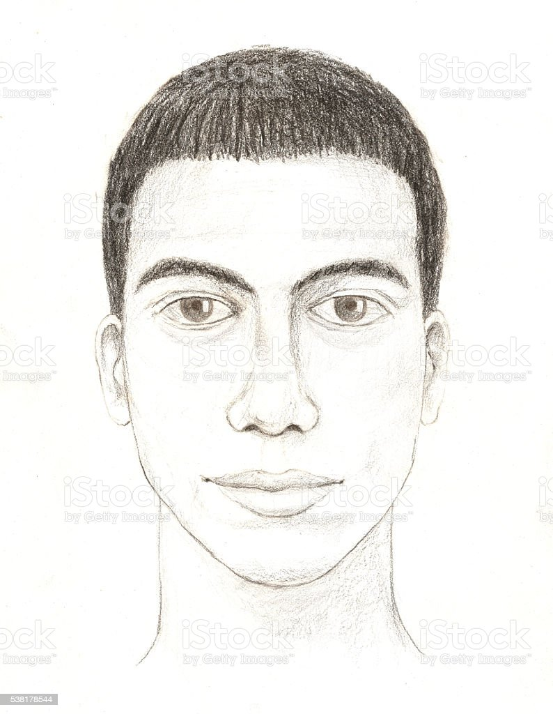 Police release sketch of suspect vector art illustration