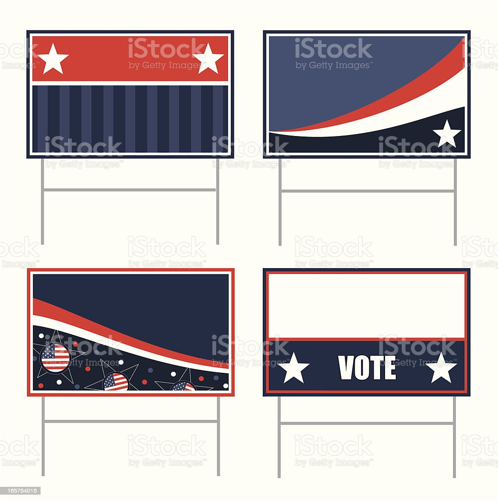 Political Banners vector art illustration