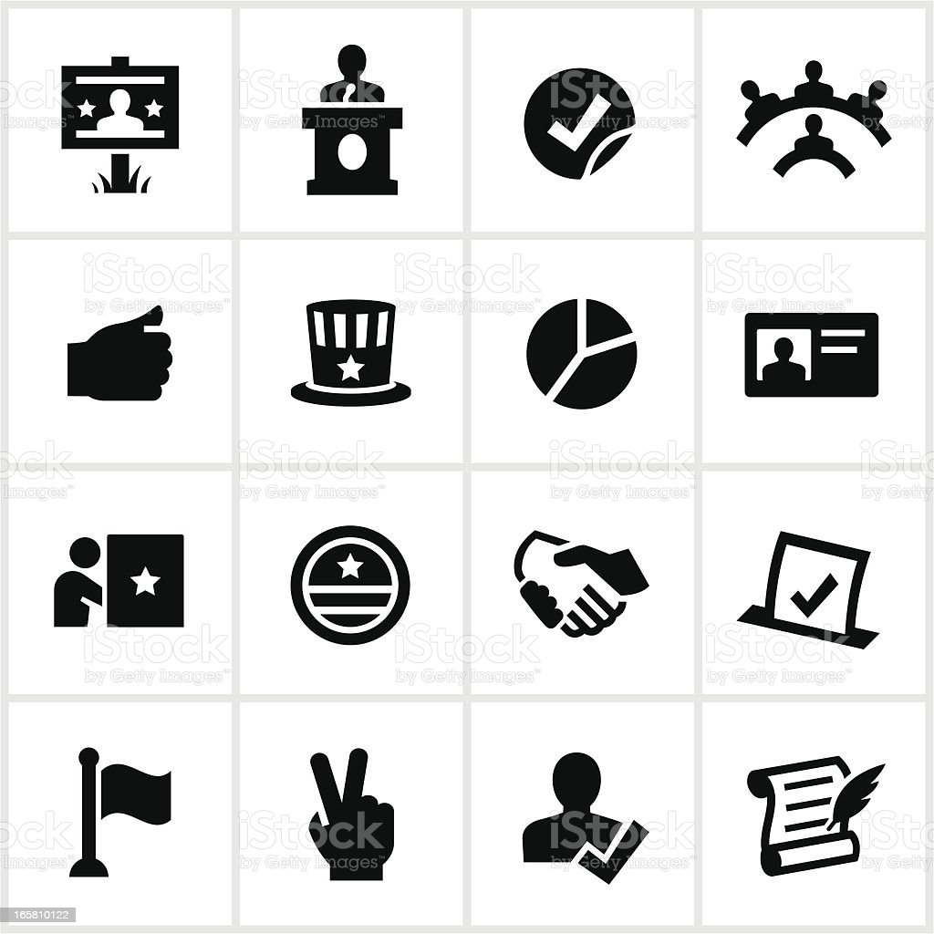Political Icons vector art illustration