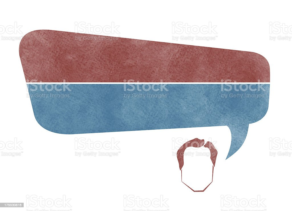 Politician with Speech Bubble royalty-free stock vector art