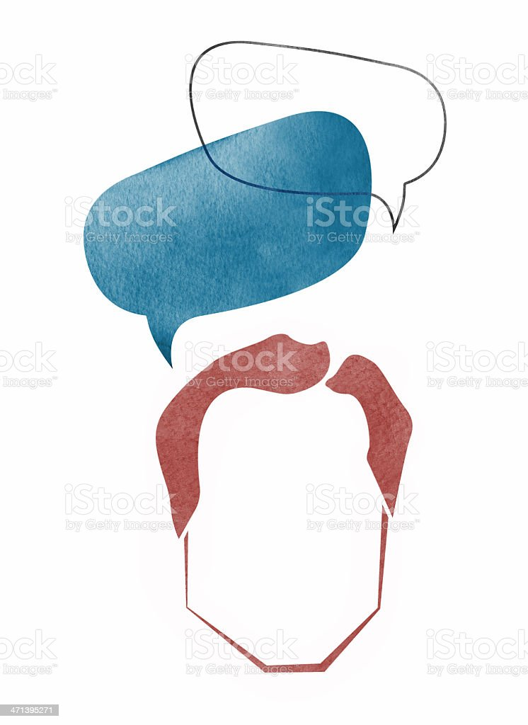 Politician with Speech Bubbles royalty-free stock vector art