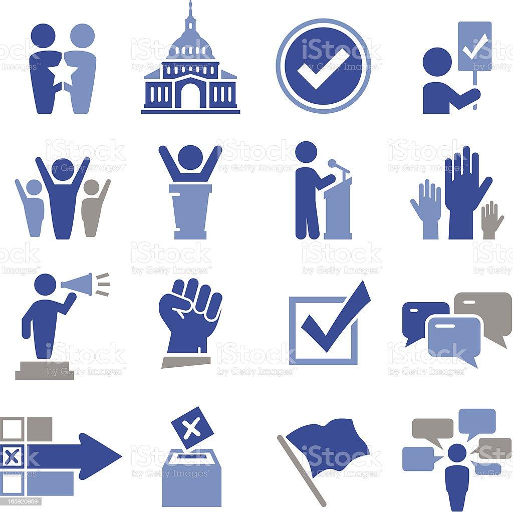 Politics Icons - Pro Series royalty-free stock vector art