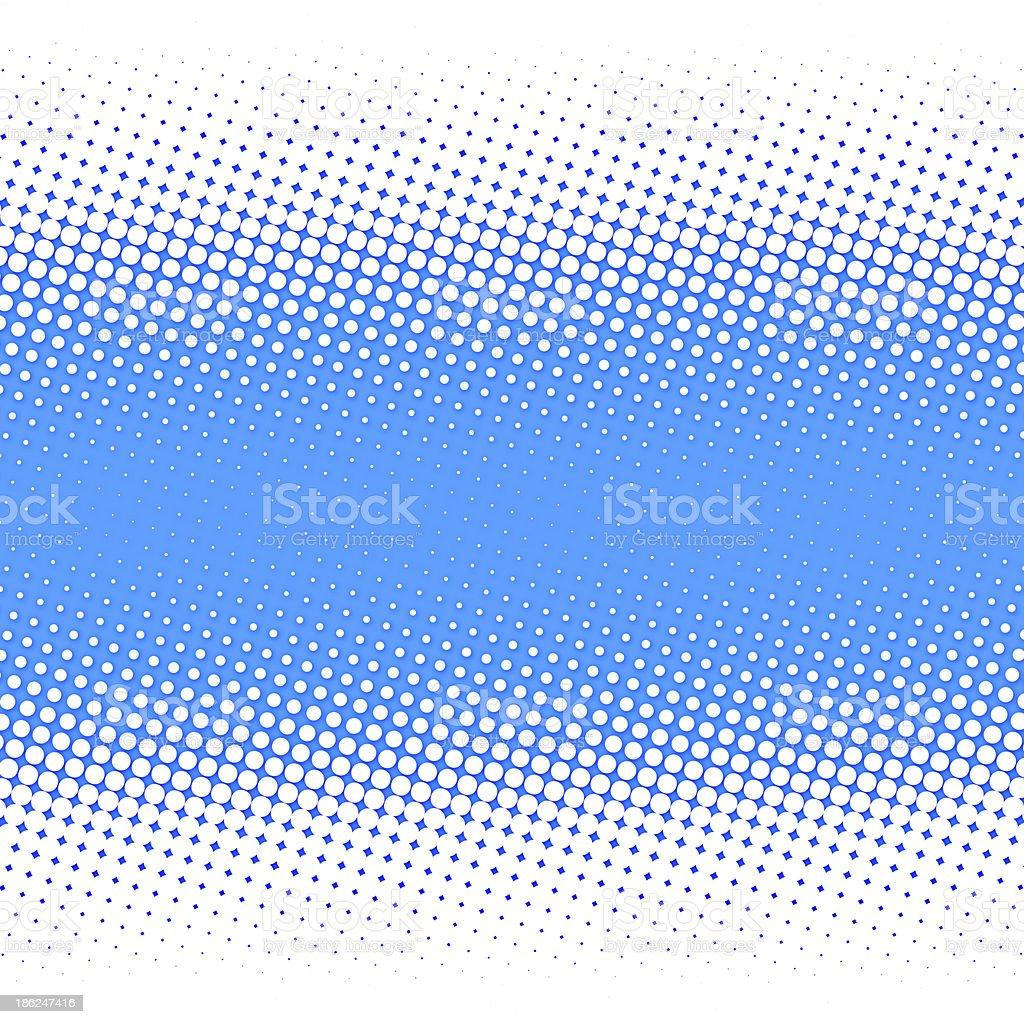 Polka dot background in blue and white vector art illustration