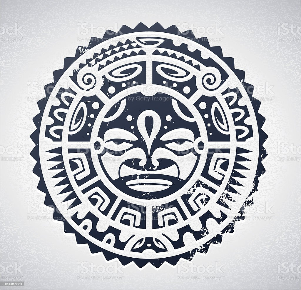 Polynesian tattoo vector art illustration