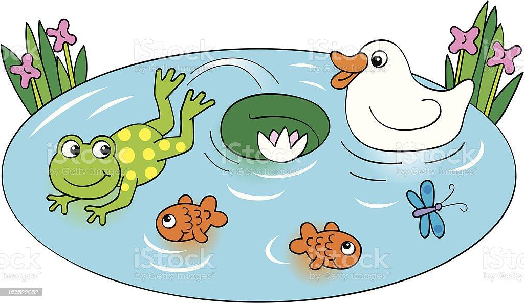 Pond Life royalty-free stock vector art