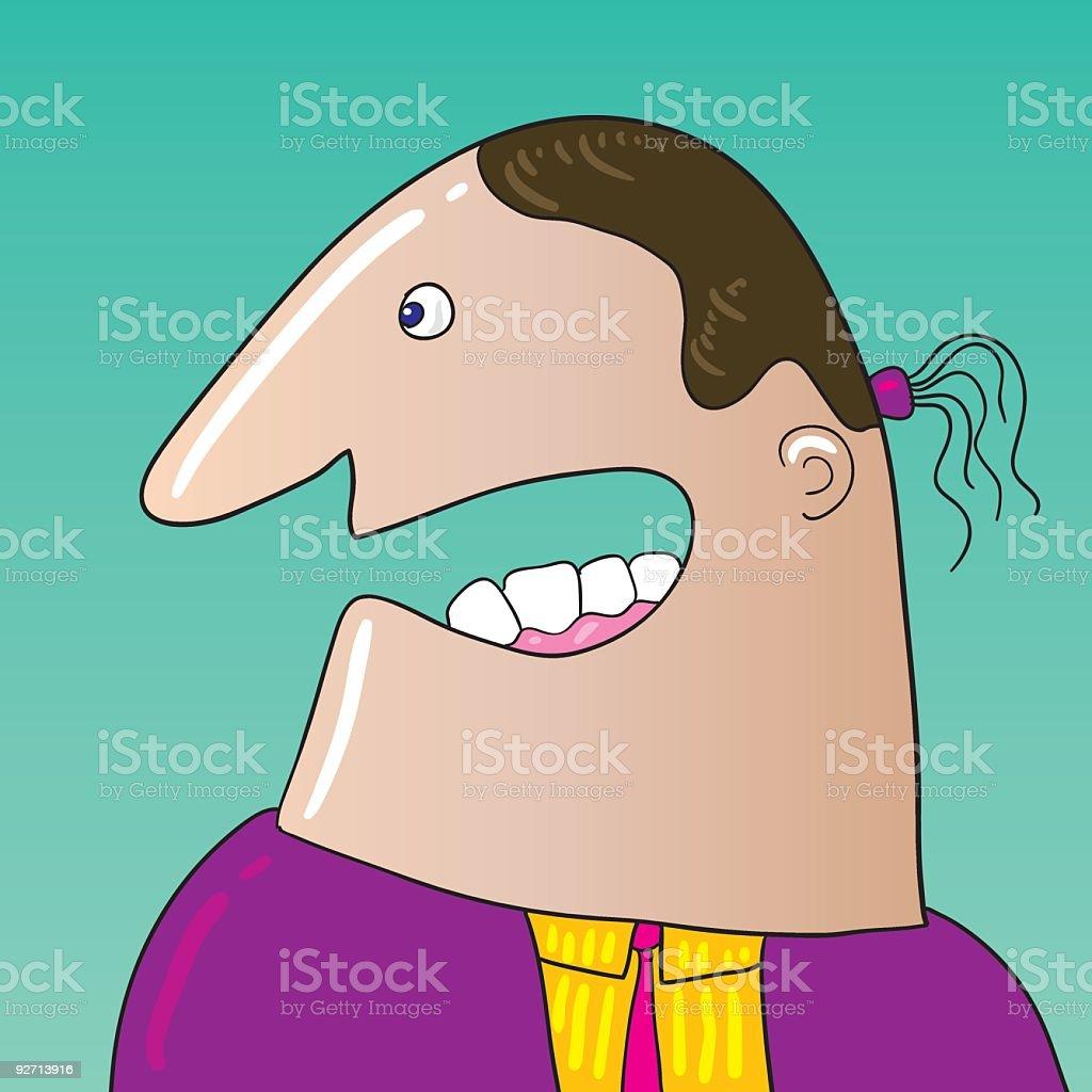 ponytail man royalty-free stock vector art