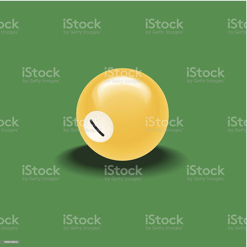 Poolball royalty-free stock vector art