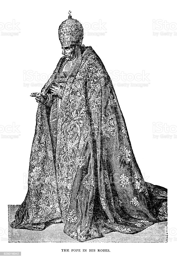 Pope Pius VII vector art illustration