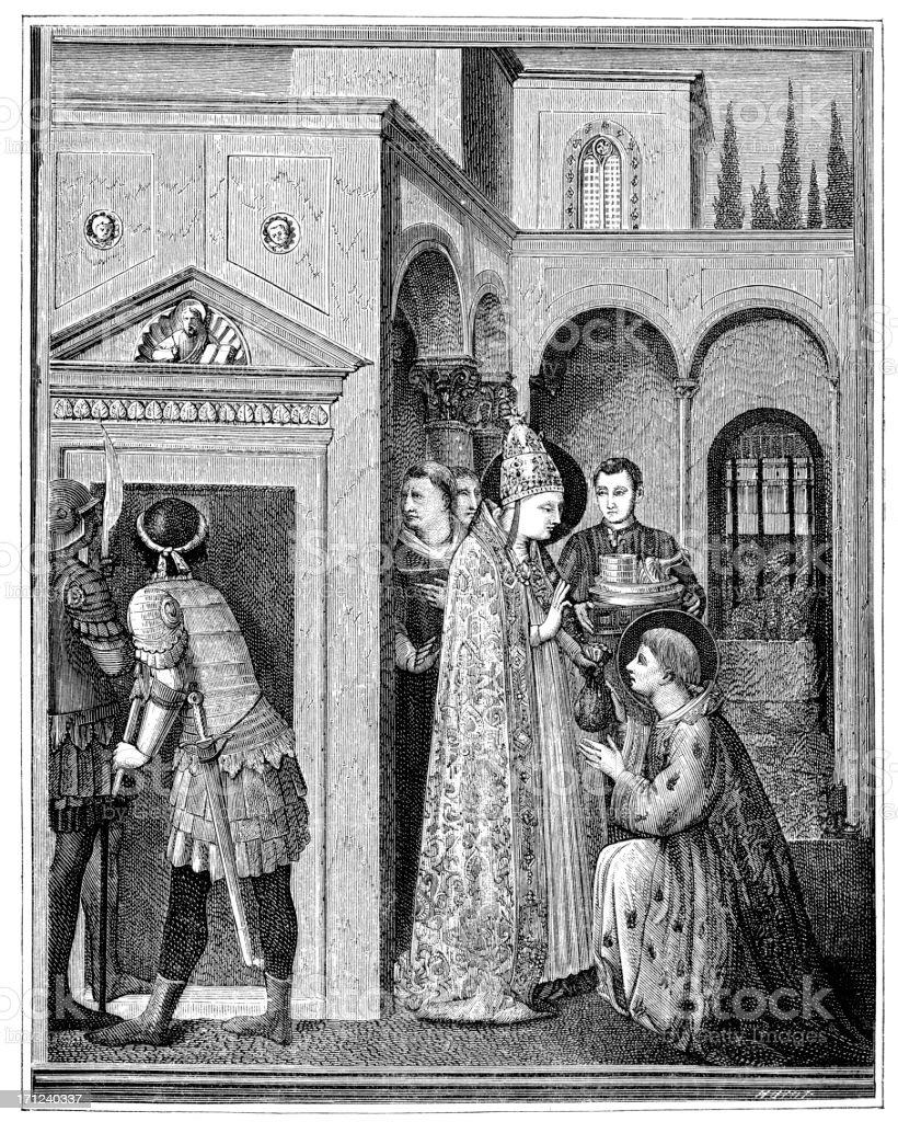 Pope Sixtus II vector art illustration