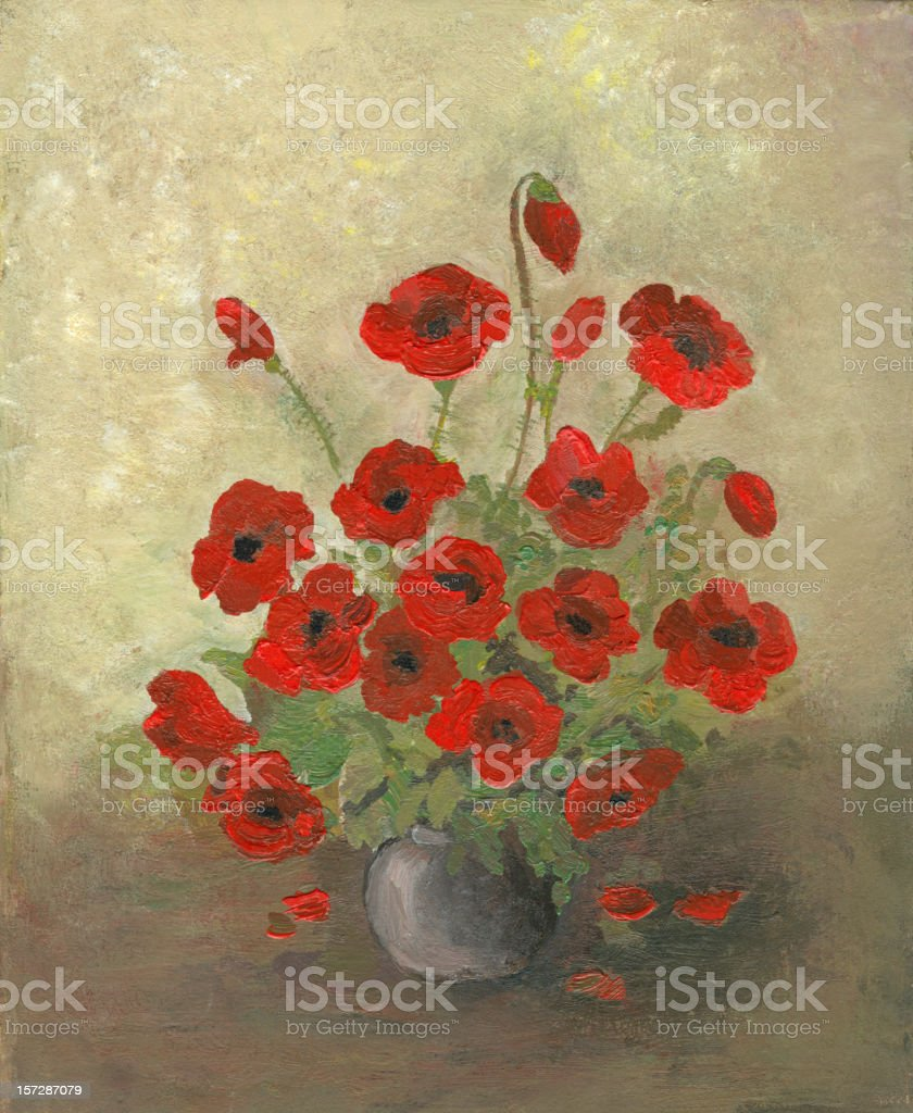 Poppy Arrangement vector art illustration