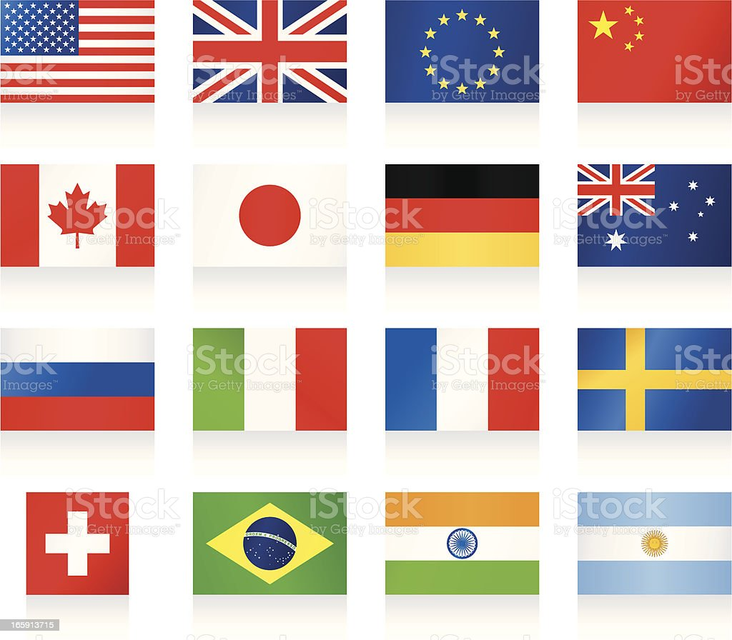 Popular Flags vector art illustration