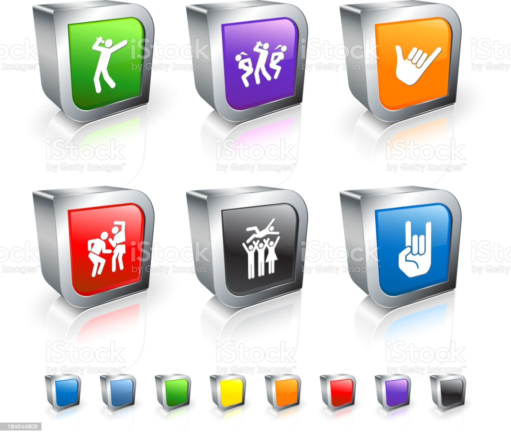 popular music concert 3D royalty free vector icon set royalty-free stock vector art
