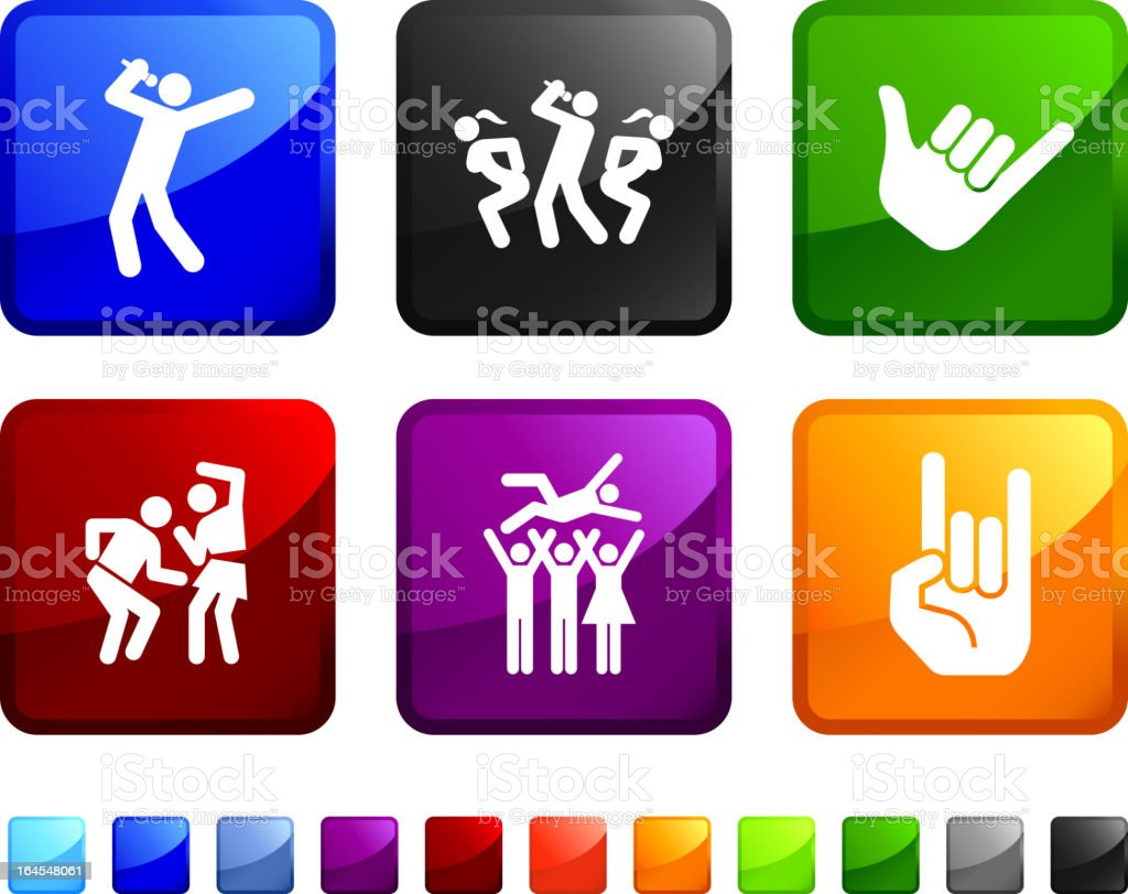 popular music concert royalty free vector icon set stickers royalty-free stock vector art