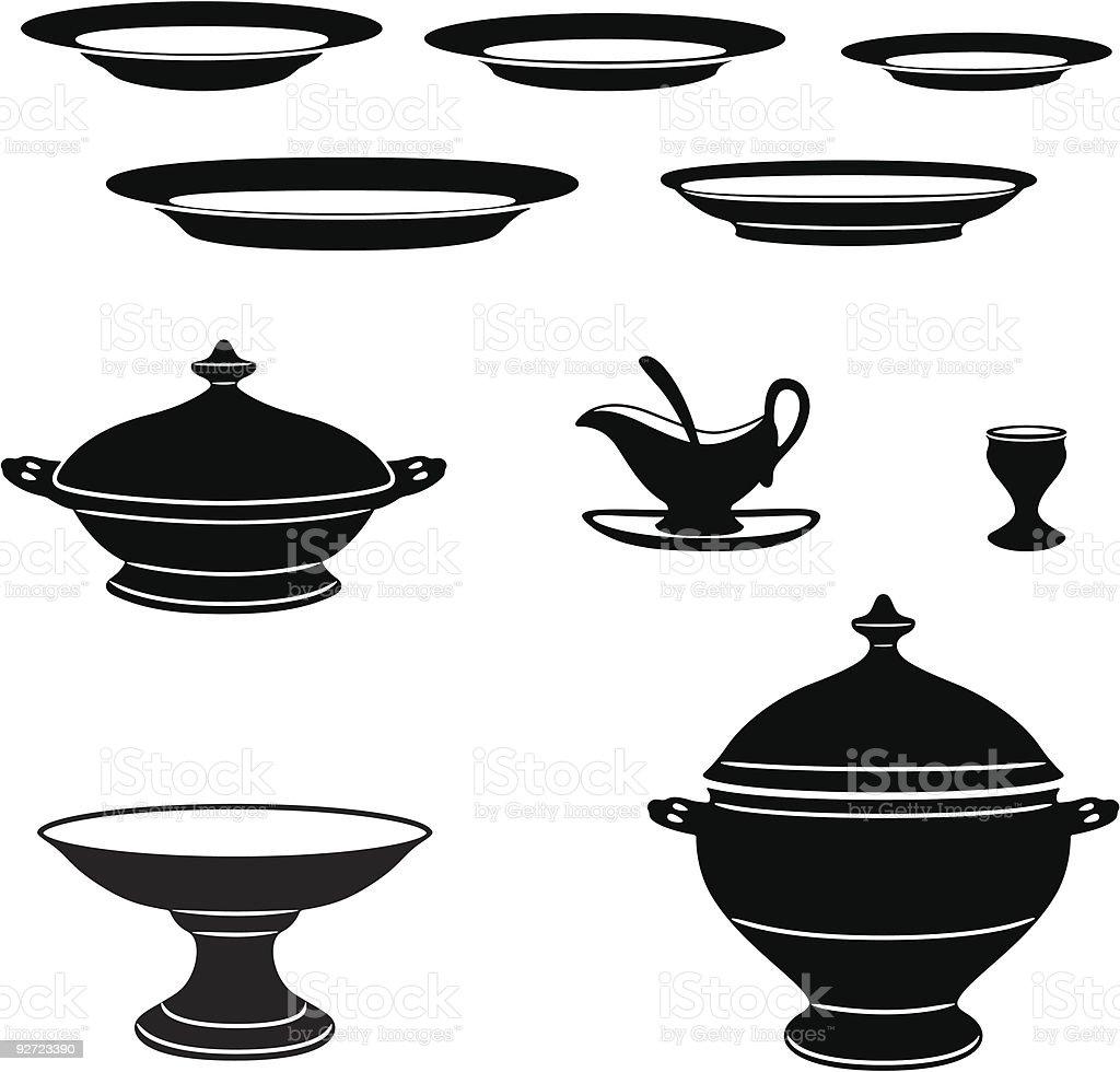 Porcelain vector art illustration