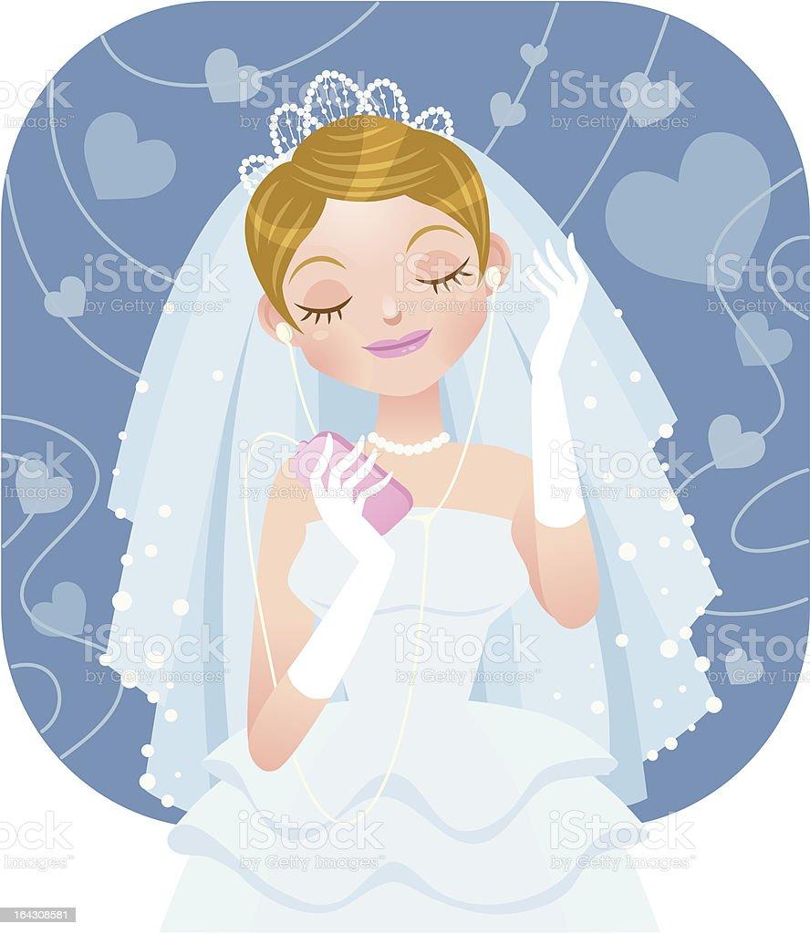Portable music-bride royalty-free stock vector art