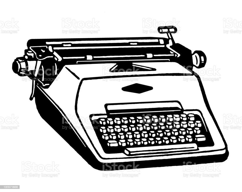 Portable Typewriter vector art illustration