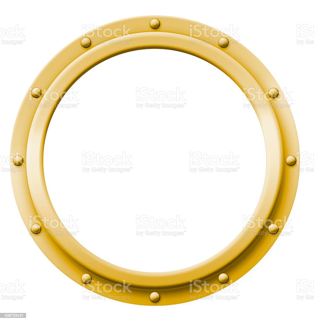 Porthole Brass vector art illustration
