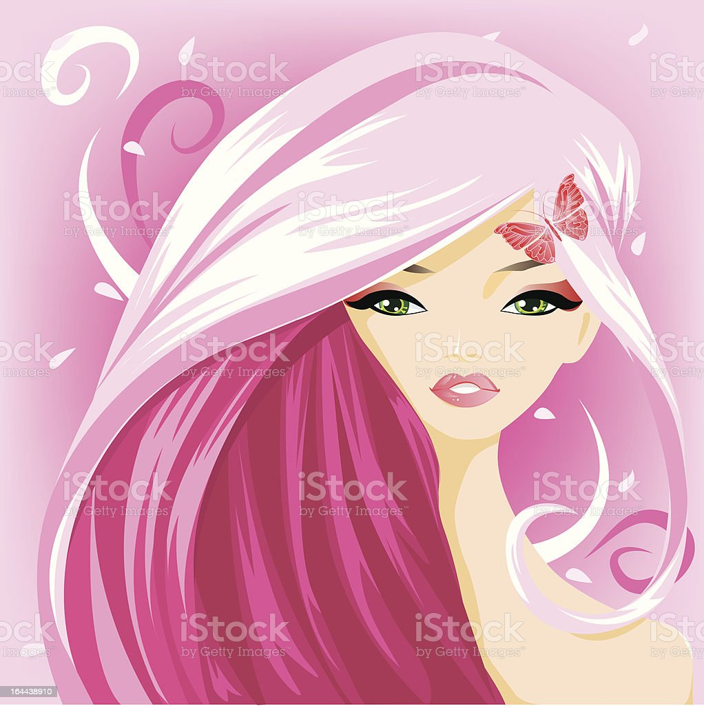 Portrait Girl royalty-free stock vector art