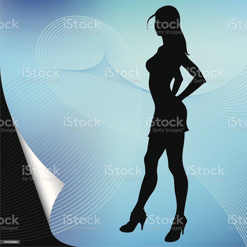Portrait in silhouette vector art illustration